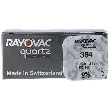 Rayovac 384 SR41SW 1.5V Silver Oxide Watch Battery